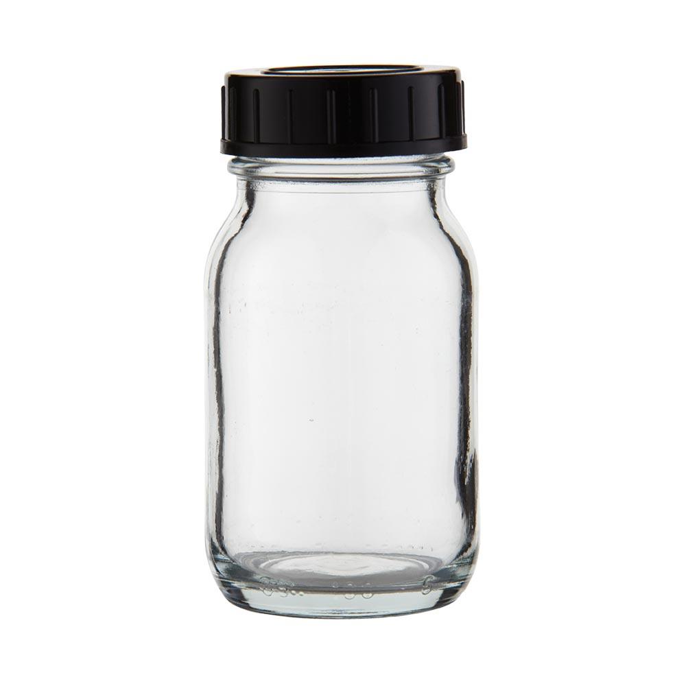 bocal col large en verre clair 100 ml couvercle vis bocaux avec couvercle bocaux col. Black Bedroom Furniture Sets. Home Design Ideas