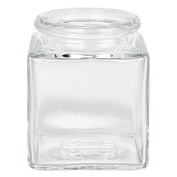 Quadratus 40ml transparent, ouverture 28mm, sans bouchon. 27,5 / 31,5
