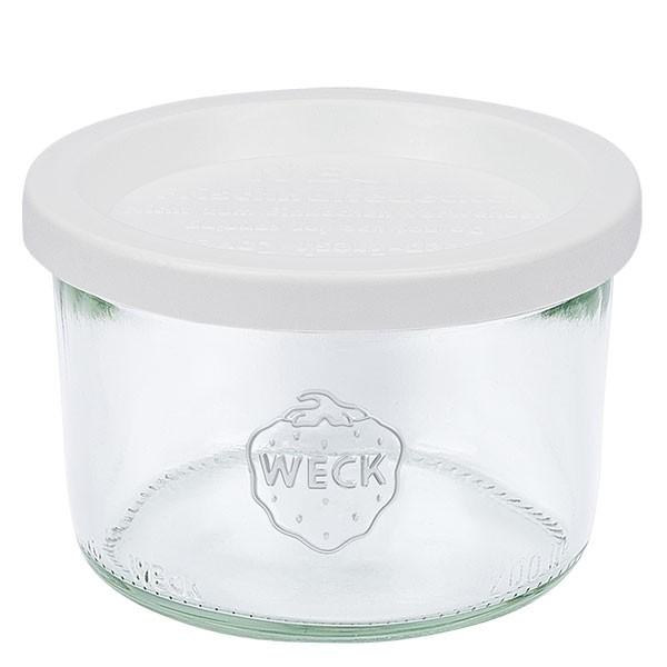 Bocal conique WECK 200 ml avec couvercle fraîcheur en plastique