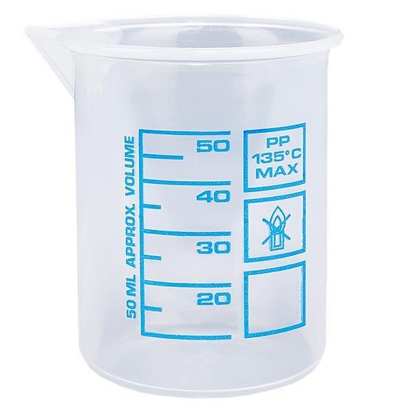 Verre mesureur en PP 50 ml