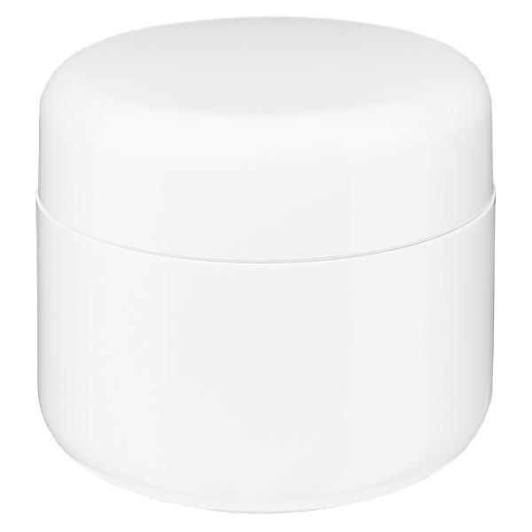 """Pot de crème blanc """"Softline"""" 5 ml + couvercle à vis et opercule"""