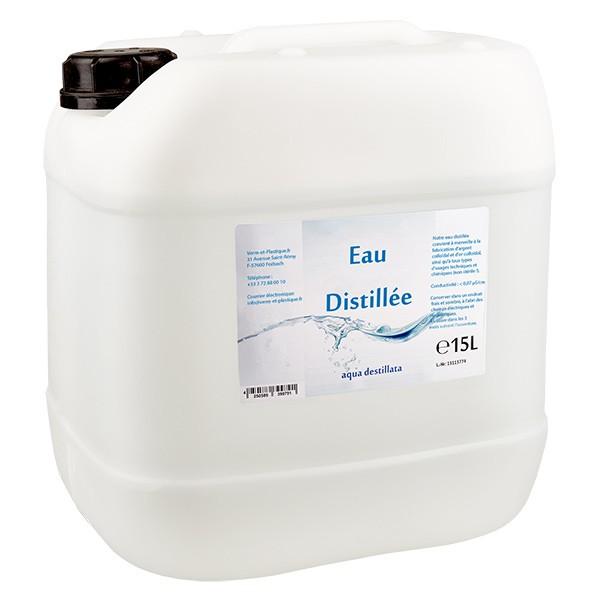 Eau distillée - Aqua dest 15 litres en jerrican premium teinte naturelle