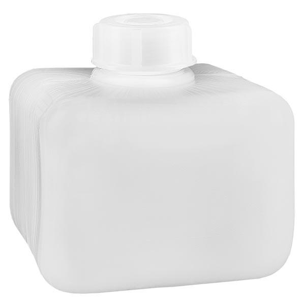 Flacon à produits chimiques 250 ml à col étroit, PEHD couleur naturelle, avec bouchon GL 28