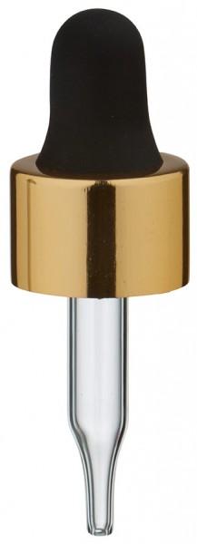 Pipette en verre UNiTWIST doré/noir 13mm PL28