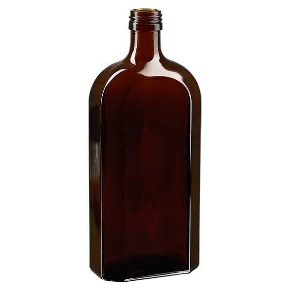 Flasque brune de 500 ml, au goulot PP 28