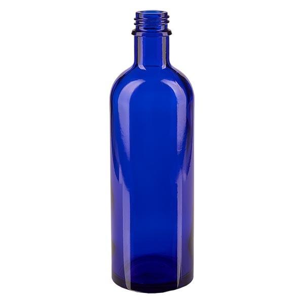 Flacon compte-gouttes 200 ml DIN22 - verre bleu
