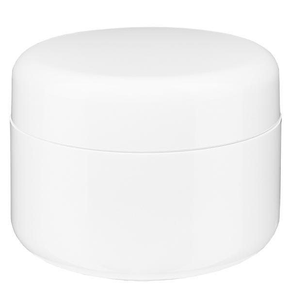 """Pot de crème blanc """"Softline"""" 100 ml + couvercle à vis et opercule"""