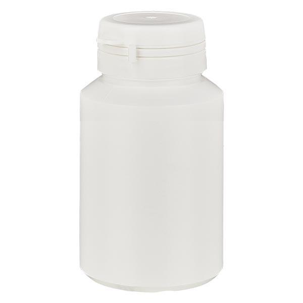 Boîte à comprimés blanche 60ml + Jaycap inviolable blanc