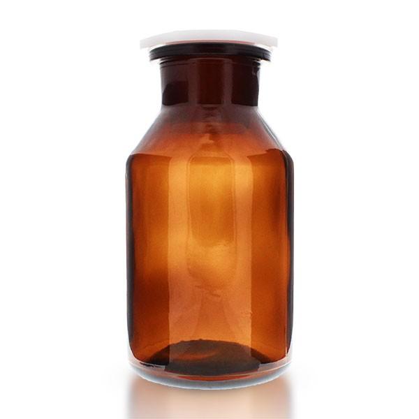 500ml Steilbrustflasche Braunglas mit Weithals und PEHD Stopfen