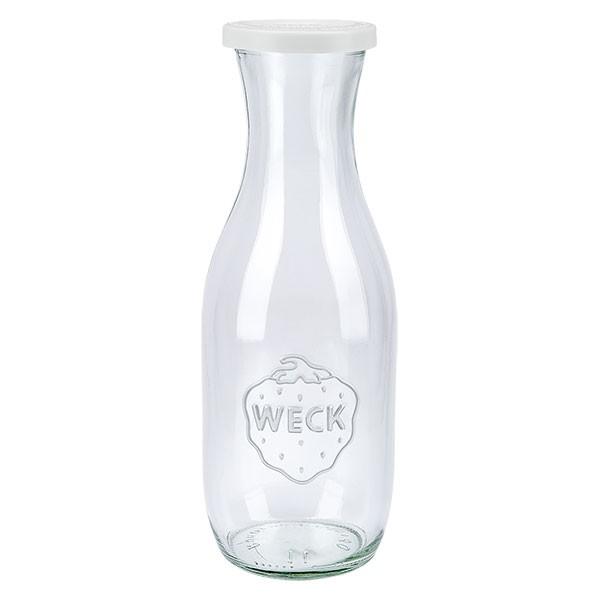 Bouteille WECK 1062ml avec couvercle fraîcheur en plastique