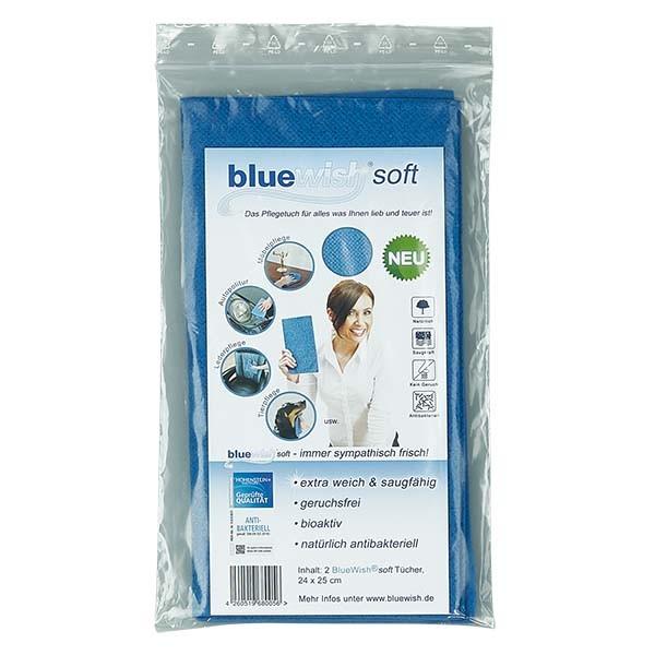 Bluewish soft. Le chiffon à tout faire. 24x25cm (2 pièces)