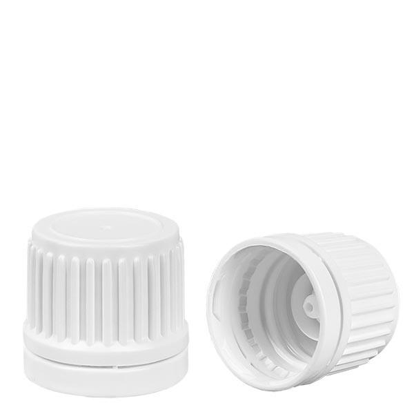 Bouchon à vis blanc 18mm système inviolable