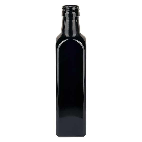 Bouteille d'huile rectangulaire en verre violet 750 ml, UNI 31,5x24
