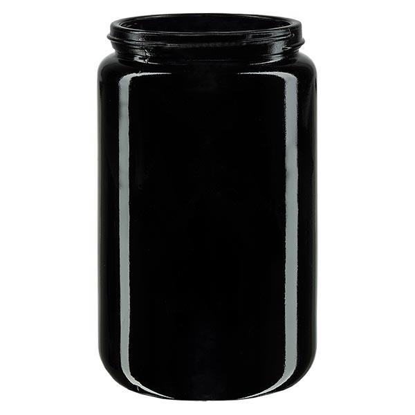 Pot violet 400 ml à large ouverture, filetage GCMI 400/70, sans couvercle