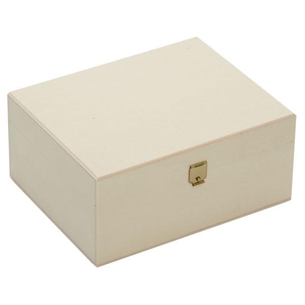 Schöne Holzbox mit Klappdeckel 17x14x8cm geschlossen