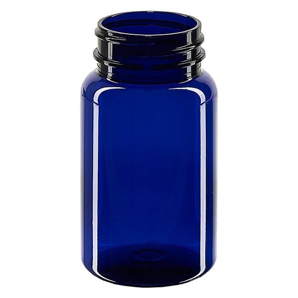 Pot Petpacker bleu cobalt 100 ml, goulot 38 mm sans couvercle
