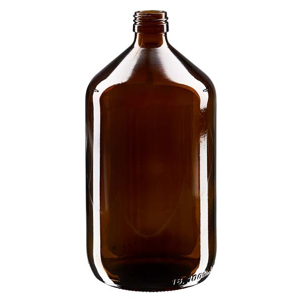Flacon médical 1000 ml couleur ambrée, PP 28