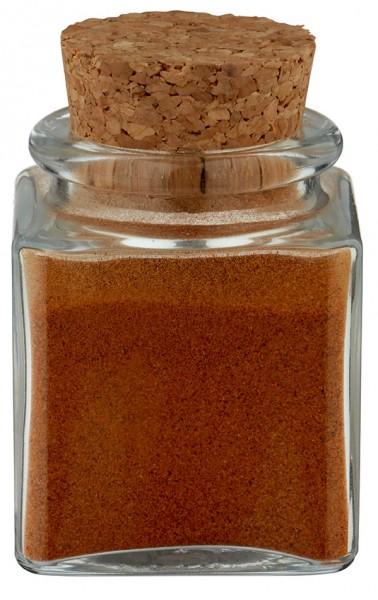Gewürzglas Idee: Quadratus 40ml klar inklusive Korken
