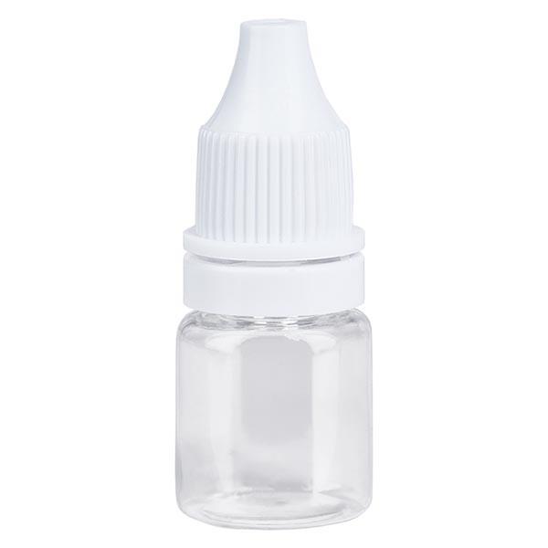 Bouteille de liquides transparente, 5 ml