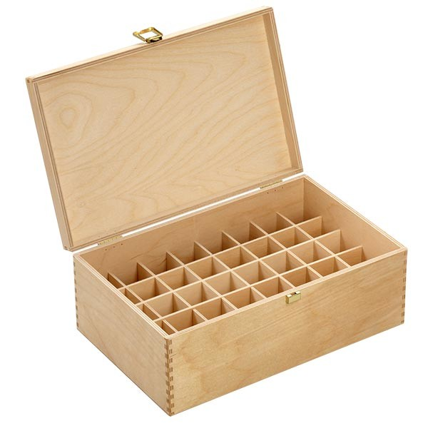 Bachblüten / Globuli Holzbox Gr. 30 aus hellem Birkenholz für 40 Flaschen