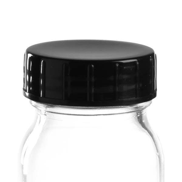 Capsule à vis en PP noir 40 mm (DIN 40)