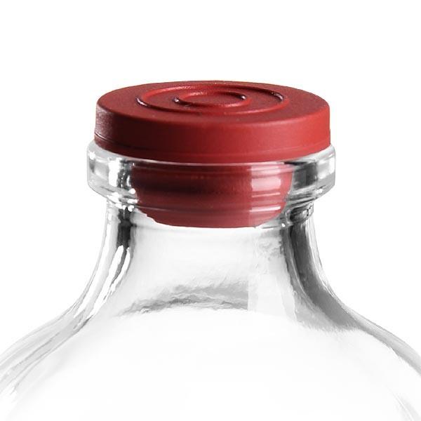 Injektionsstopfen rot 20 mm aus Brombutyl
