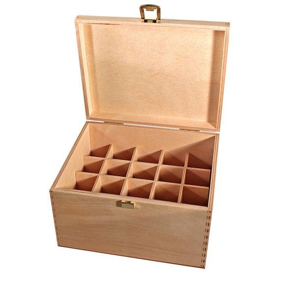 Holzbox Größe 30 aus hellem Birkenholz für Bachblüten