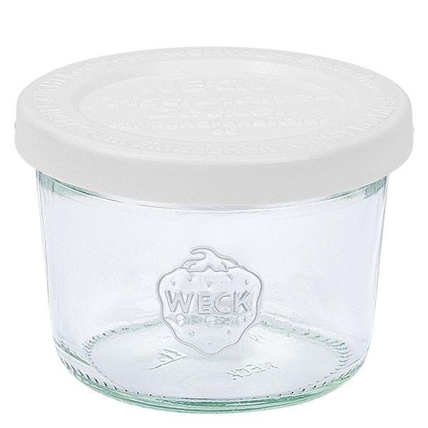 Mini bocal conique WECK 80 ml avec couvercle fraîcheur en plastique