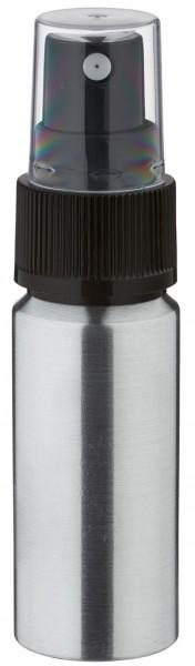 20ml Aluminium-Flasche geschliffen inkl. Pumpzerstäuber schwarz