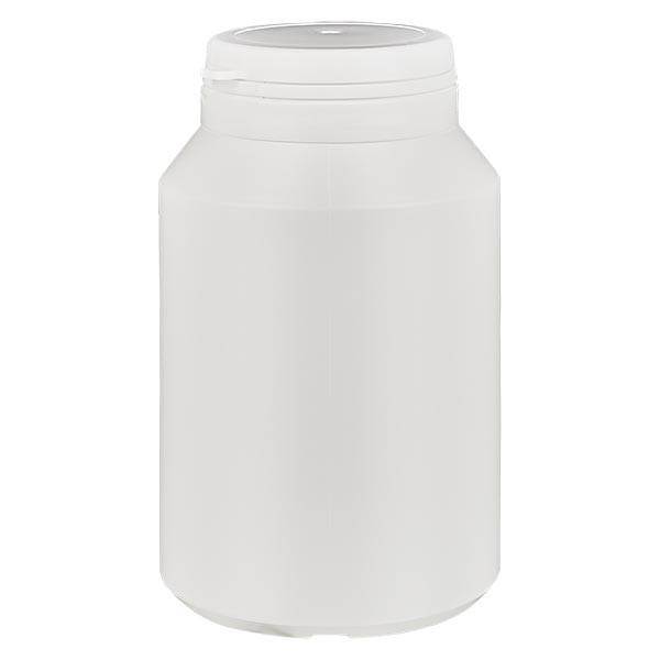 Boîte à comprimés blanche 200ml + Jaycap inviolable blanc