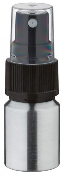 10ml Aluminium-Flasche geschliffen inkl. Pumpzerstäuber schwarz