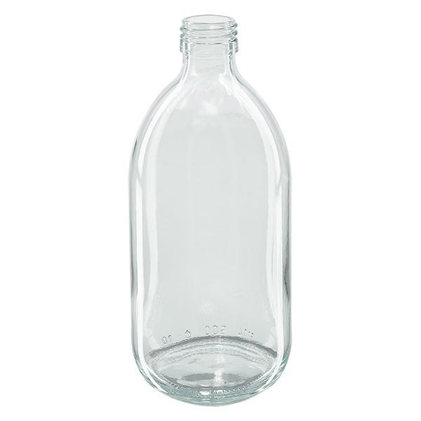 Flacon médical 500 ml couleur claire PP 28