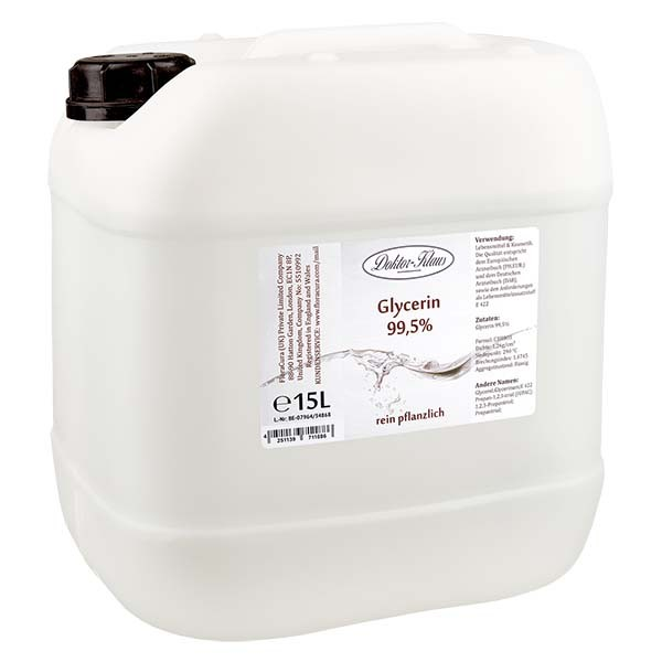 Glycérine 99,5 % Doktor Klaus dans un jerrican PEHD de 15 litres - E 422