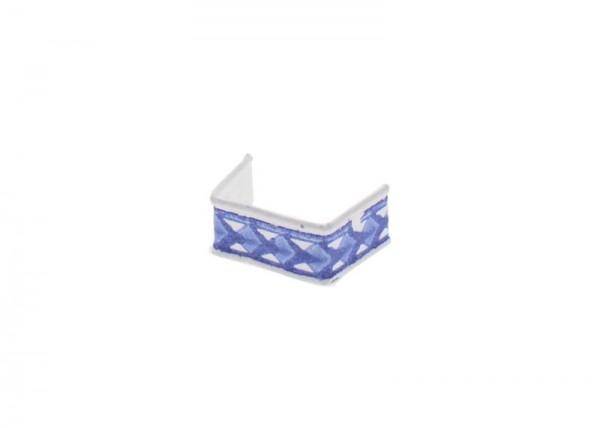 100 clips en papier, longueur 33, bleu et blanc