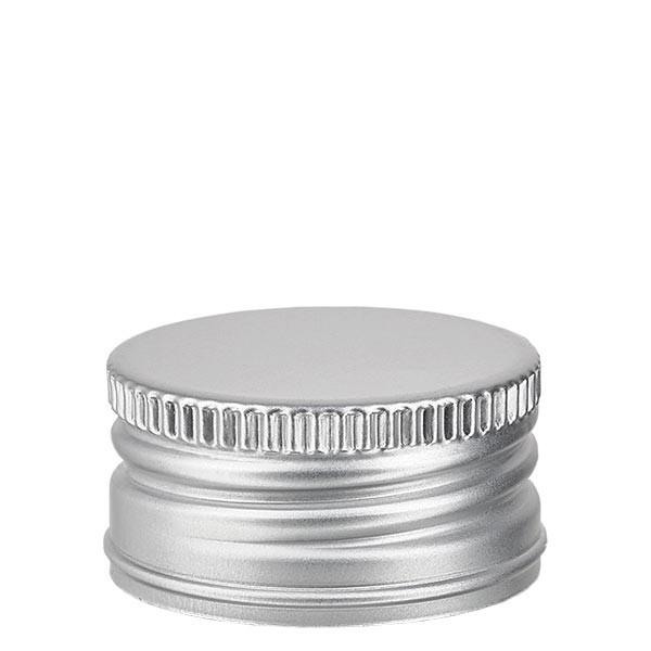 Capsule à vis PP 31,5 mm, aluminium argenté, standard