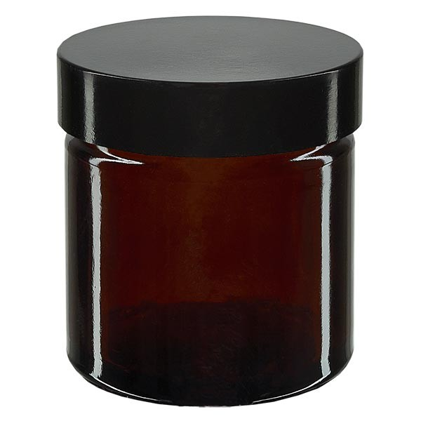 Pot en VERRE AMBRÉ 60 ml, filetage 51 mm / R3