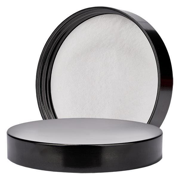 Couvercle à vis en bakélite noire, 53mm/R3