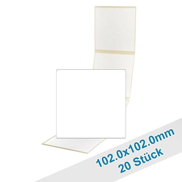 Paquet de 20 étiquettes 102,0x102,0mm inscriptibles