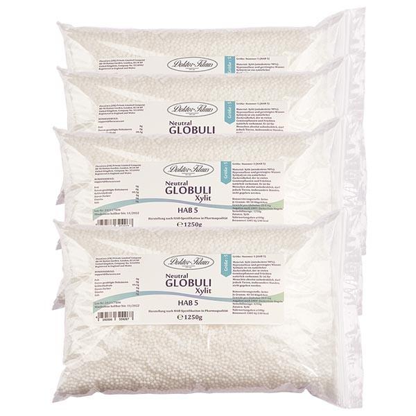Offre spéciale : 5,0kg globules neutres HAB5 en xylite (sans sucre) (4 x 1,25kg)