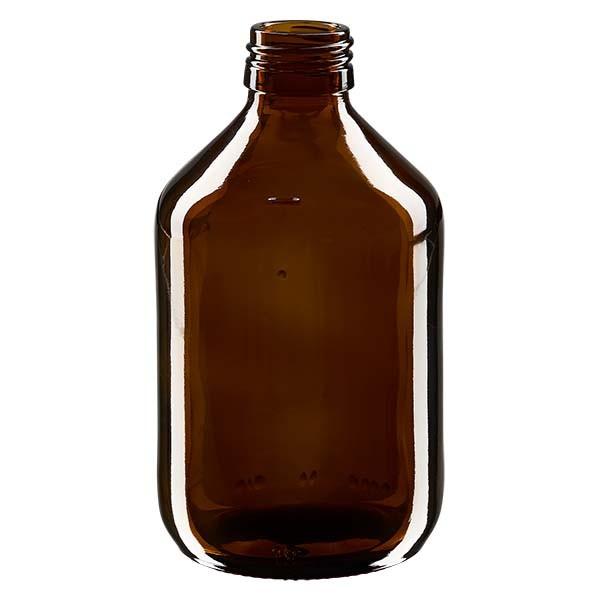 Flacon médical 300 ml couleur ambrée, PP 28