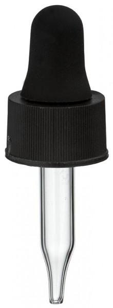 Pipette en verre UNiTWIST noire 13mm PL28