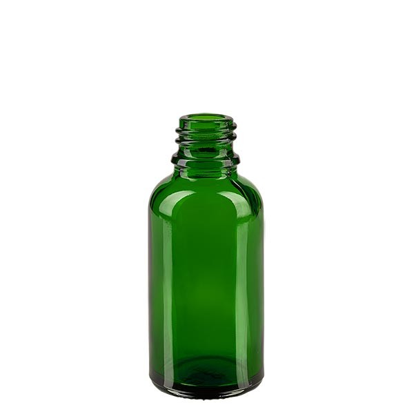 Flacon compte-gouttes vert 30 ml DIN18