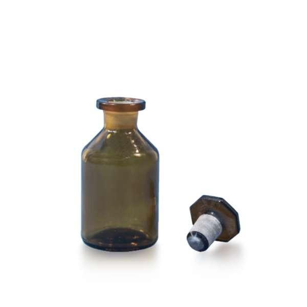 50ml Steilbrustflasche mit Glasstopfen Braunglaus