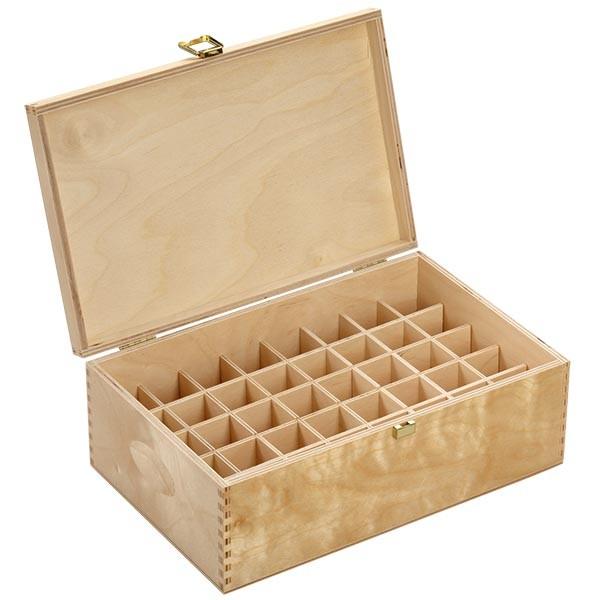 Bachblüten Holzbox aus hellem Birkenholz für 40 x 20 ml Flaschen