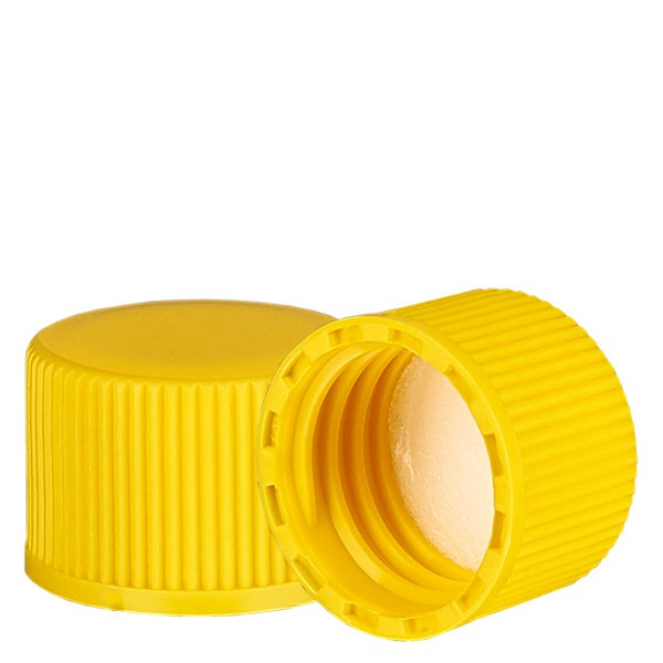 Bouchon à vis jaune avec joint en PE, S20x3