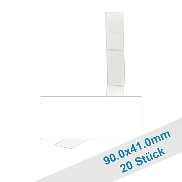 Paquet de 20 étiquettes 90,0 x 41,0mm inscriptibles