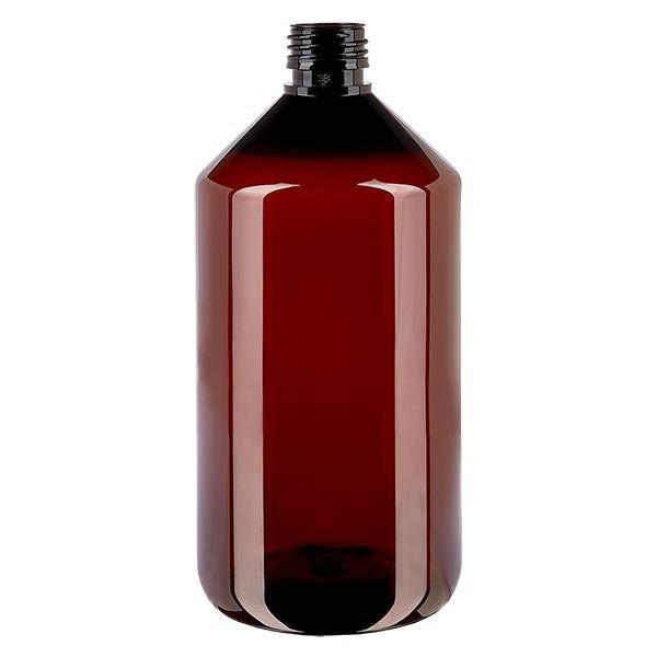 Flacon médical en PET 750 ml ambré, PP28 sans bouchon