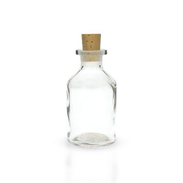 50ml Steilbrustflasche Enghals Klarglas mit Korken
