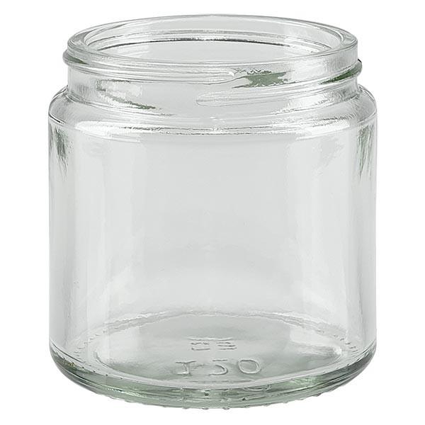 Pot en VERRE CLAIR 120 ml, filetage 58 mm / R3