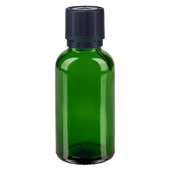 Fl. pharm. 30 ml bouch. compte-g. prem. 1 mm séc. enf. avert. aveugles inviolable